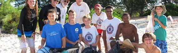 Reef Action Team cleans up beach and reef