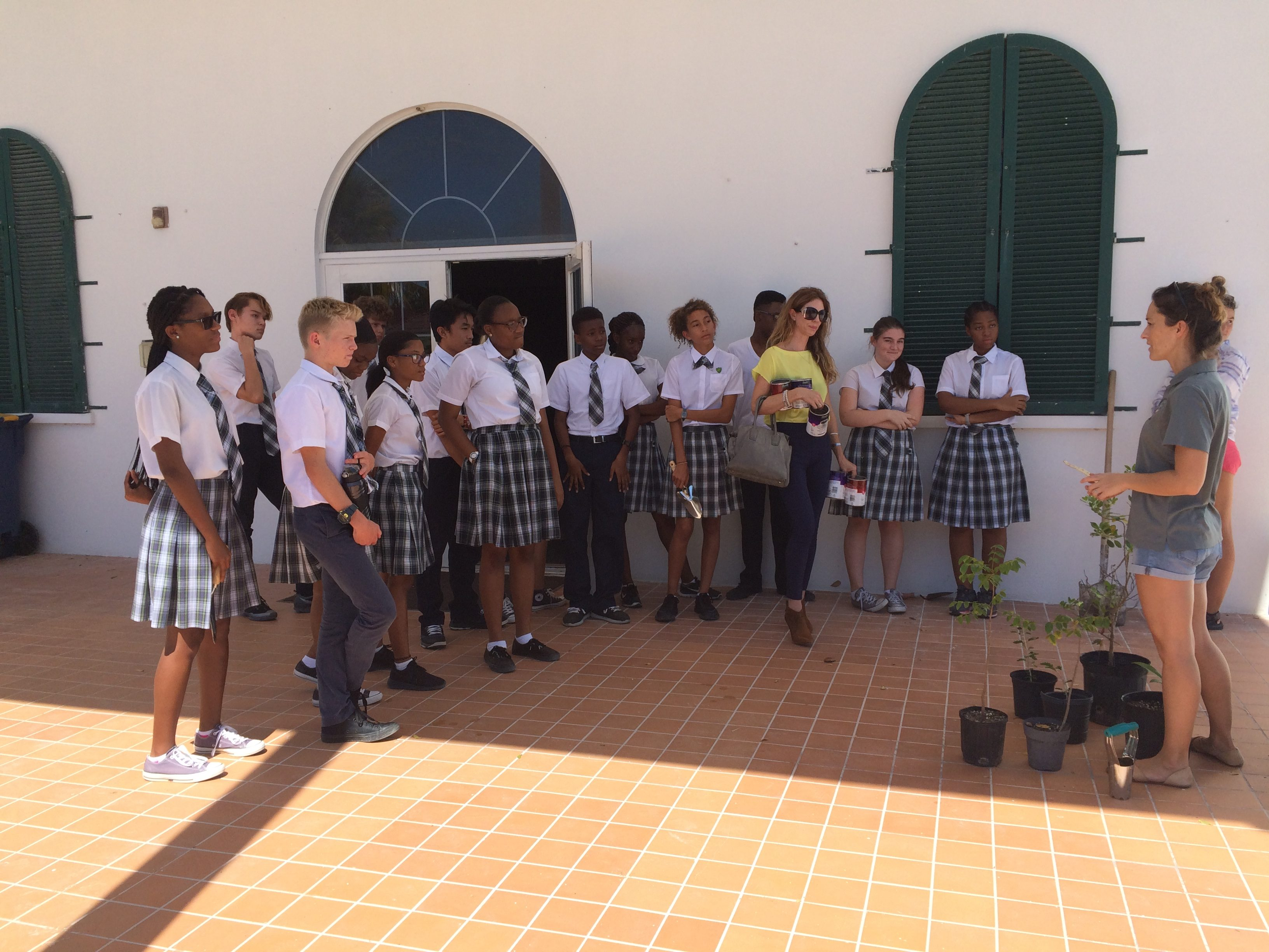 British West Indies Collegiate plant trees with Turks and Cacios Islands Department of Environment and Coastal Resources
