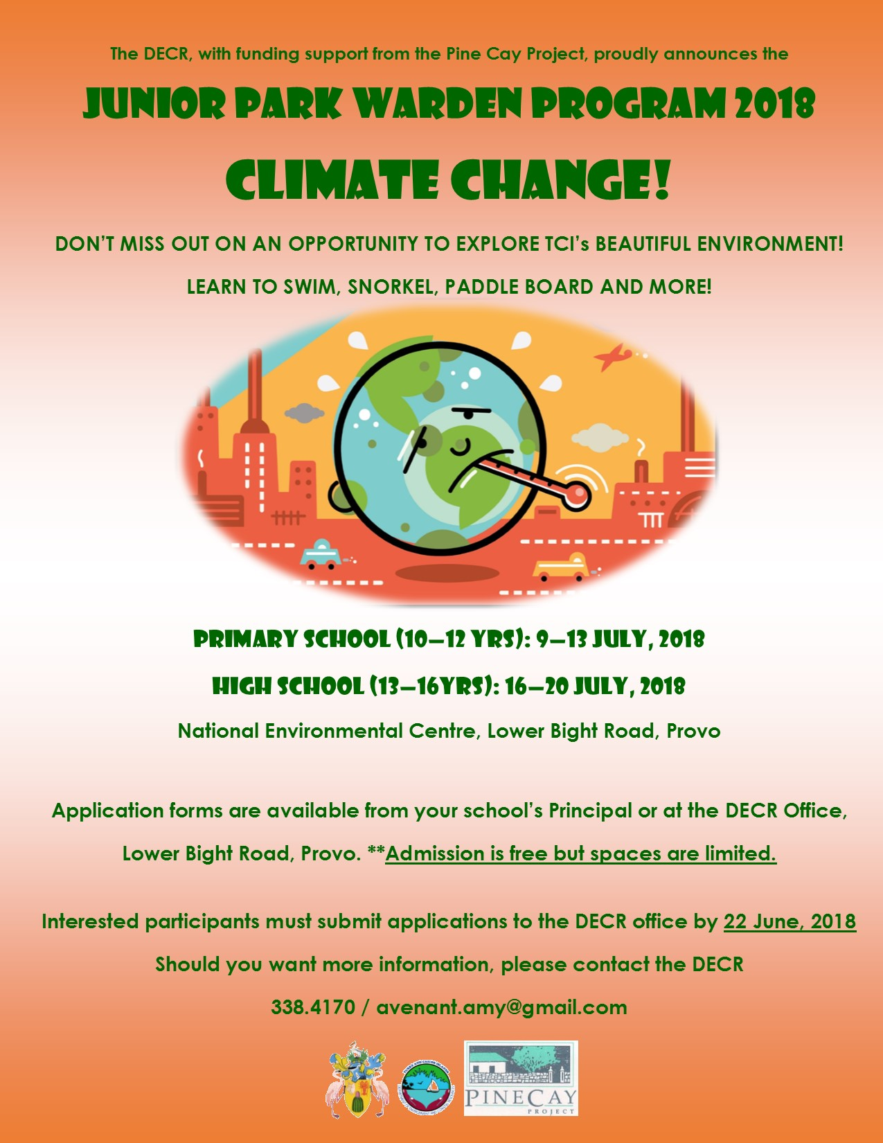 Turks and Caicos Islands Department of Environment and Coastal Resources Junior Park Warden Program Summer 2018